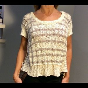 Free People short sleeve knit sweater size S